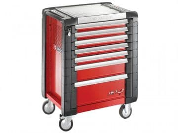 Jet.7M3 Mobile Work Bench 7 Drawer Red